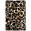DonnieAnn Company Sculpture Black/Brown Leopard Skin Print Area Rug