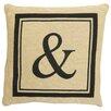 """Park B Smith Ltd Vintage House Monogram """"&"""" Throw Pillow"""