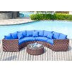 DHI Del Mar 5 Piece Deep Seating Group with Blue Cushions