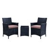 DHI Santa Cruz 3 Piece Deep Seating Group with Cushions