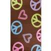 Concord Global Imports Alisa Peace and Polka Hearts Kids Rug