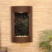 Serene Waters Natural Stone/Metal Wall Fountain - Stone: Silver Mirror, Finish: Woodland Brown - Adagio Fountains Indoor and Outdoor Fountains
