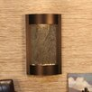Serene Waters Natural Stone/Metal Wall Fountain - Stone: Green Feather, Finish: Antique Bronze - Adagio Fountains Indoor and Outdoor Fountains