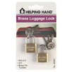 HelpingHand Solid Brass Luggage Lock (Set of 3)