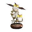 Alpine Iron Owl Tiered Tabletop Fountain