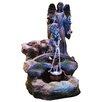 Alpine Fiberglass/Resin Barrel and Angel Fountain