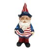 Americana Gnome Statue - Size: Small - Alpine Garden Statues and Outdoor Accents