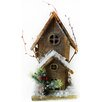 Christmas Wooden 12 inch High x 5 inch Wide x 6 inch Deep Birdhouse - Alpine Birdhouses