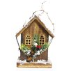 Christmas Wooden 8 inch High x 4 inch Wide x 6 inch Deep Birdhouse - Alpine Birdhouses