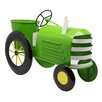 Metal Tractor Planter - Color: Lime Green - Alpine Planters