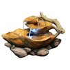 Fiberglass Leaf Tabletop Fountain with LED Light - Alpine Indoor and Outdoor Fountains