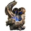Fiberglass Pots Cascading on Tree Branch Waterfall Fountain with LED Light - Alpine Indoor and Outdoor Fountains
