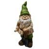 Alpine Gnome with Shovel Statue