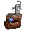 Fiberglass 2 Tier Barrel Fountain with LED Light - Alpine Indoor and Outdoor Fountains