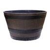 Vinyl Barrel Planter - Size: Small - Alpine Planters