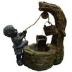 Alpine Polyresin Boy Fetching Water Sculptural Fountain