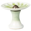 Daisy Birdbath - Color: Green - Alfresco Home Bird Baths