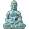 Alfresco Home Glazed Ceramic Large Peaceful Buddha Statue