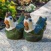 Medium Ceramic Meadow Hen Statue - Alfresco Home Garden Statues and Outdoor Accents