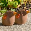 Small Ceramic Toucan Statue (Set of 2) - Alfresco Home Garden Statues and Outdoor Accents