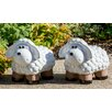 Medium Ceramic Lamb Statue - Alfresco Home Garden Statues and Outdoor Accents