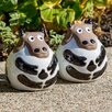 Small Ceramic Cow Statue - Alfresco Home Garden Statues and Outdoor Accents