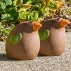Medium Ceramic Toucan Statue - Alfresco Home Garden Statues and Outdoor Accents