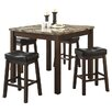 Wildon Home ® Mirage 5 Piece Counter Height Dining Set