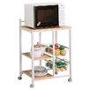 Wildon Home ® Lake Havasu Microwave Cart with Wood Top