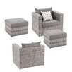 Wildon Home ® Bennett 4 Piece Deep Seating Group with Cushions