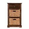 Wildon Home ® Bourke 2-Basket Storage Shelf