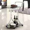 Holly Amp Martin Zephs Serving Cart With Glass Top
