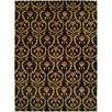 Wildon Home ® Kaohsiung Hand-Knotted Black/Gold Area Rug