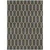 Wildon Home ® Steele Geometric Lattice Blue/Ivory Area Rug