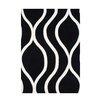 Wildon Home ® Aileena Hand-Tufted Black/White Area Rug