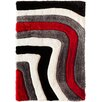 Wildon Home ® Clareta Hand Carved Gray/Red Area Rug