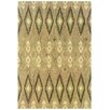 Wildon Home ® Adeline Hand-Crafted Wool Ikat Beige/Ivory Area Rug