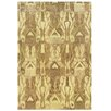 Wildon Home ® Adeline Hand-Crafted Wool Ikat Beige/Tan Area Rug