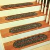 Wildon Home ® Ceridwenn Brown Indoor/Outdoor Stair Tread (Set of 13)