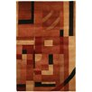 Wildon Home ® Adalene  Hand-Knotted Rust Area Rug