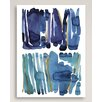 """Wildon Home ® """"Blue and Green"""" by Kate Roebuck Painting Print on Canvas"""