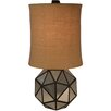 "Wildon Home ® Faceted Aged Mirror 30"" H Table Lamp with Drum Shade"