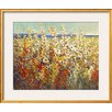 Wildon Home ® 'Field of Spring Flowers II' by Tim O'toole Framed Painting Print