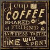 Wildon Home ® 'Coffee Quote I' Textual Art