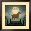 Wildon Home ® 'Moonrise Yellow Dog - Golden Pond' by Ryan Fowler Framed Graphic Art