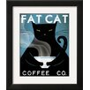 Wildon Home ® 'Cat Coffee' by Ryan Fowler Framed Vintage Advertisement