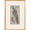 Wildon Home ® 'Peacock on Linen 2' by Chad Barrett Framed Graphic Art