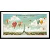 Wildon Home ® 'Ballooning Over Paris' by Isiah and Benjamin Lane Framed Vintage Advertisement