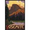 Wildon Home ® 'Half Dome, Yosemite National Park, California' Framed Painting Print