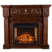 Wildon Home ® Claridge Infrared Electric Carved Fireplace